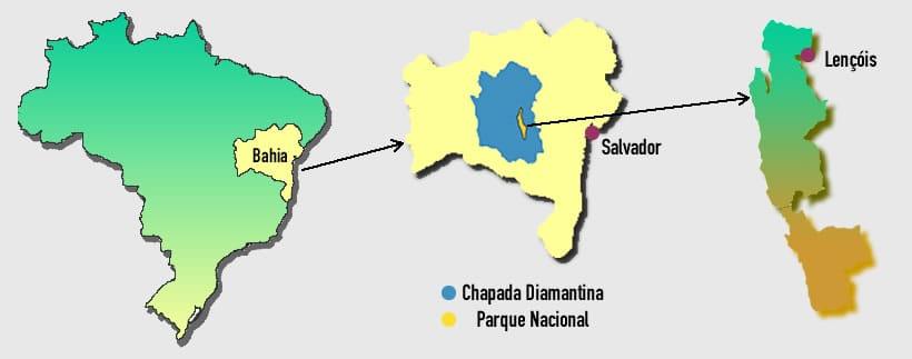 mapa Chapada Diamantina